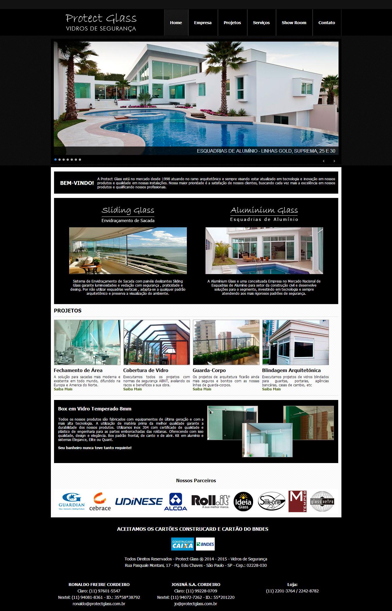 Criação de Site Protect Glass